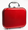 Red small suitcase | Stock Foto