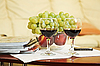 Two wineglasses and fruits | Stock Foto