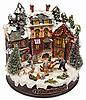 ID 3016946 | Häuser bedeckten mit Schnee und spielende Kinder | Foto mit hoher Auflösung | CLIPARTO