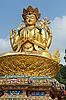 Photo 300 DPI: Giant gold sculpture of Shiva in Kathmandu, Nepal