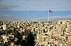 Amman city view with flag, Jordan | Stock Foto