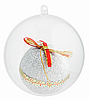 Photo 300 DPI: Christmas decorations ball inside of Transparent glass sphere