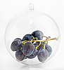 Photo 300 DPI: The bunch of grapes in translucent sphere