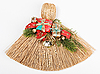 Christmas broom decorations on white | Stock Foto