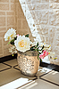 Peony flowers in pottery vase | Stock Foto