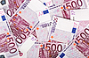 Photo 300 DPI: Many bundle of 500 Euro bank notes
