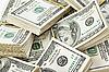 Many bundles of US 100 dollars bank notes | Stock Foto