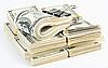 Many US 100 dollars bank notes  | Stock Foto