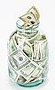 ID 3017176 | Viele $100-Banknoten im Glas | Foto mit hoher Auflösung | CLIPARTO