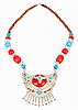 Ethnic Tibetan necklace with yak symbol | Stock Foto