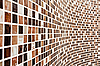 Photo 300 DPI: Wall with brown mosaic pattern