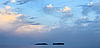 Sea landscape with two islands and beautiful turquoise sky  | Stock Foto