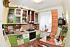 Green Kitchen interior, fisheye view | Stock Foto