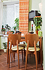 Kitchen Table and chairs with fruit basket | Stock Foto