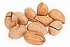 Many pecan nuts isolated on white | Stock Foto