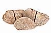 Photo 300 DPI: Few whole shelled Brazil nuts isolated on white
