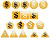 Photo 300 DPI: Dollar icons