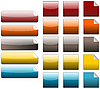 Empty colored icons | Stock Illustration