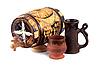 Barrel i Puchar gliny | Stock Foto