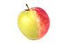 Half czerwony i pół zielone jabłko | Stock Foto