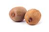 Two whole kiwifruits | Stock Foto