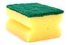 Yellow sponge   Stock Foto
