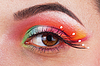 Beautiful, fantastic make up girl eye | Stock Foto
