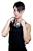 Young man listening music | Stock Foto