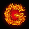 Feuer-Buchstabe G | Stock Foto