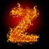 화재 문자 Z | Stock Foto