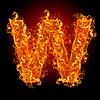 화재 문자 W | Stock Foto