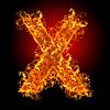 화재 문자 X   Stock Foto