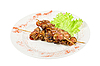 Kebab from chicken liver   Stock Foto