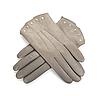 Photo 300 DPI: Grey female leather gloves