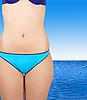 Blue bikini | Stock Foto
