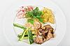 Photo 300 DPI: potato, fat and vegetables