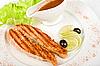 Grilled trout steak | Stock Foto