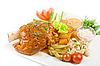 Pork brisket with vegetables | Stock Foto