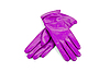 Purple female leather gloves | Stock Foto