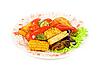 Smażone warzywa   Stock Foto