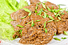 Photo 300 DPI: Fried liver of rabbit