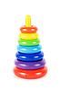 ID 3020011 | Plastikowe zabawki piramidy | Foto stockowe wysokiej rozdzielczości | KLIPARTO
