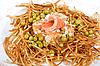연어 물고기 근접 촬영 러시아어 샐러드 | Stock Foto