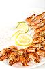 Grilled shrimps | Stock Foto