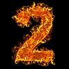 ID 3020623 | Feuer-Ziffer 2 | Foto mit hoher Auflösung | CLIPARTO