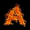 Feuer-Buchstabe A | Stock Foto