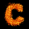 화재 문자 C | Stock Foto