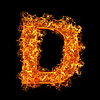 화재 문자 D | Stock Foto