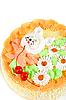 奶油樱桃蛋糕 | 免版税照片