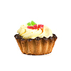 Fruit jelly cupcake | Stock Foto